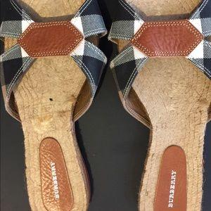 Burberry espadrille sandals.
